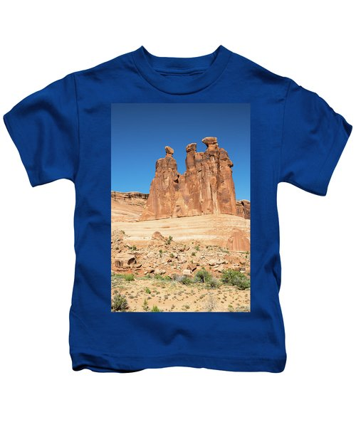 Balanced Rocks In Arches Kids T-Shirt