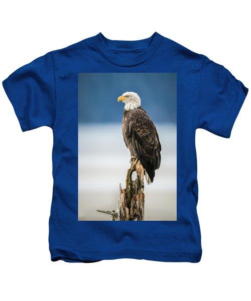 Bald Eagle On Snag Kids T-Shirt