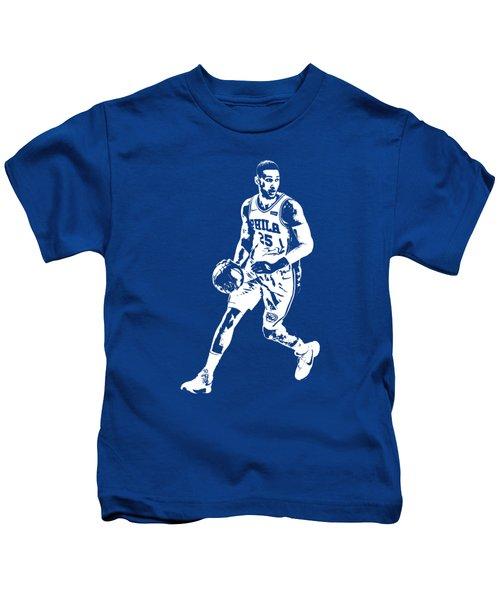 Ben Simmons Philadelphia 76ers T Shirt Apparel Pixel Art 1 Kids T-Shirt
