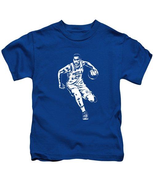 Ben Simmons Philadelphia 76ers T Shirt Apparel Pixel Art 2 Kids T-Shirt