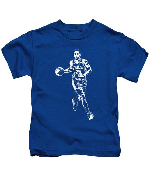 Ben Simmons Philadelphia 76ers T Shirt Apparel Pixel Art 3 Kids T-Shirt