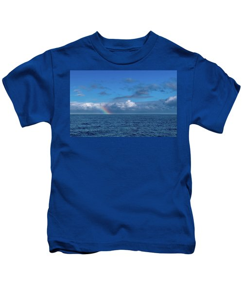 Blue Rainbow Horizon Kids T-Shirt
