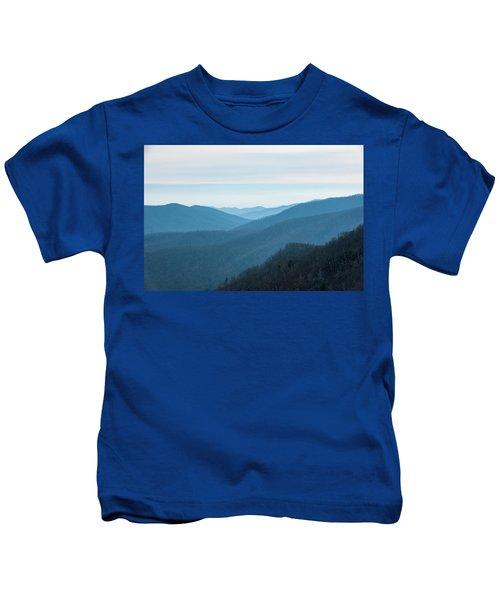 Blue Ridge Mountains Kids T-Shirt