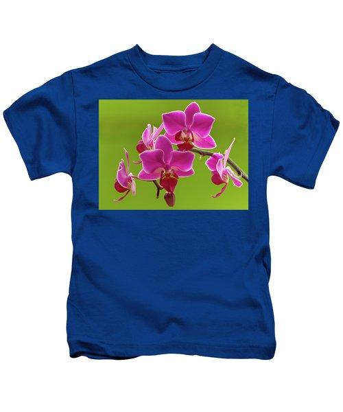 Brilliant Pink Orchid Kids T-Shirt