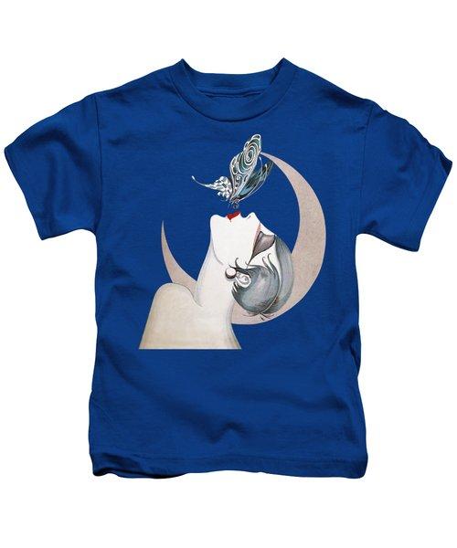 Butterfly Kiss French Art Deco Flapper Woman Kids T-Shirt