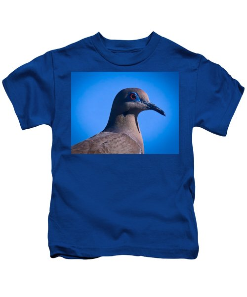 Kids T-Shirt featuring the photograph Don't It Make My Brown Eyes Blue by Judy Kennedy