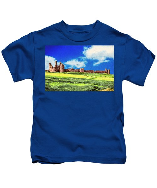 Dunstanburgh Castle In Oil Kids T-Shirt