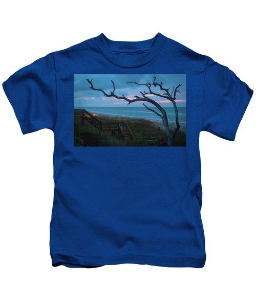 Emerald Isle Obx - Blue Hour - North Carolina Summer Beach Kids T-Shirt
