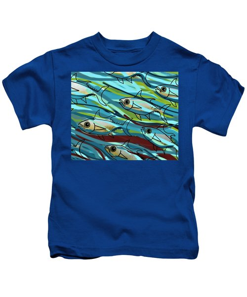F Is For Fish Kids T-Shirt
