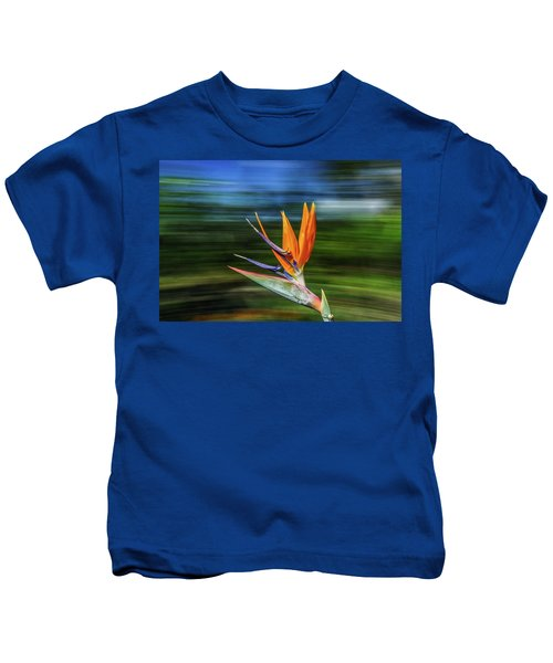 Flying Bird Of Paradise Kids T-Shirt