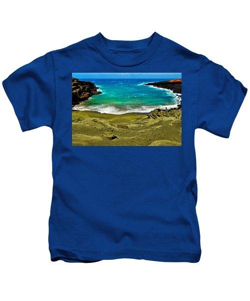 Green Sand Beach Kids T-Shirt