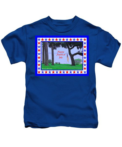 Happy Fourth Of July - A Scene From Fairhope Alabama Kids T-Shirt