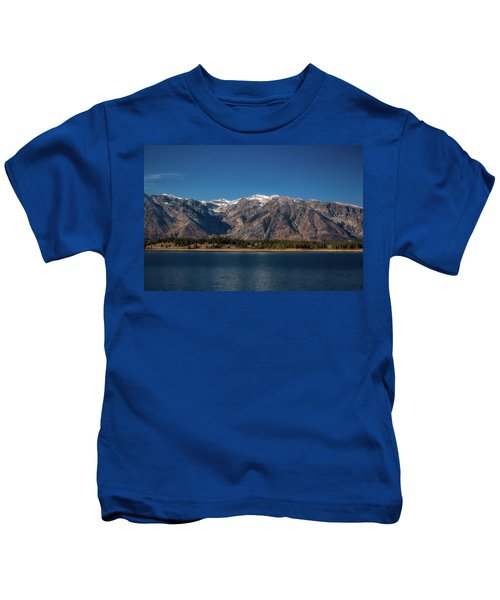 Jackson Lake Wyoming Kids T-Shirt