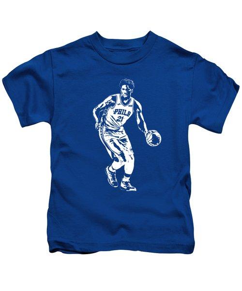 Joel Embiid Philadelphia 76ers T Shirt Apparel Pixel Art 1 Kids T-Shirt