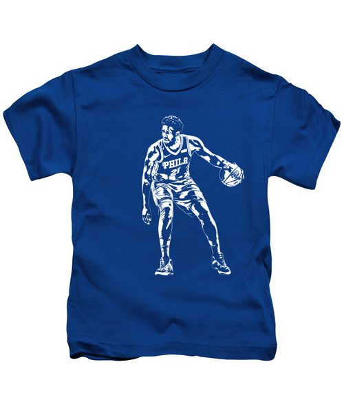 Joel Embiid Philadelphia 76ers T Shirt Apparel Pixel Art 2 Kids T-Shirt