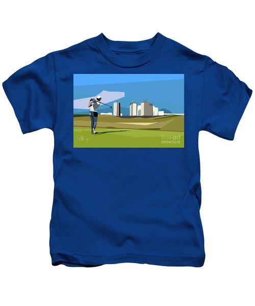 Justin Rose In Rio  Kids T-Shirt