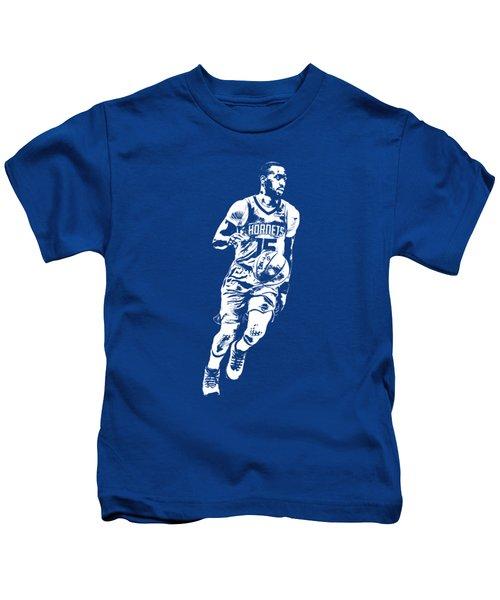 Kemba Walker Charlotte Hornets T Shirt Apparel Pixel Art 1 Kids T-Shirt