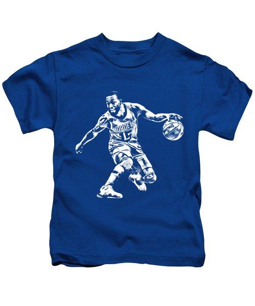 Kemba Walker Charlotte Hornets T Shirt Apparel Pixel Art 3 Kids T-Shirt