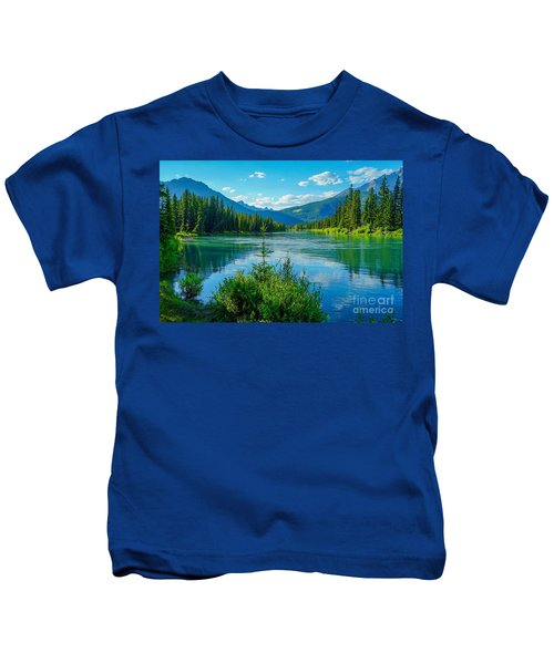Lake At Banff Indian Trading Post Kids T-Shirt
