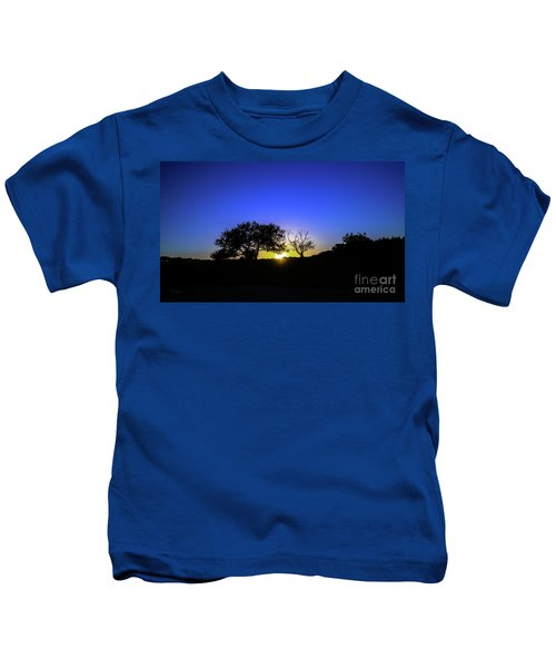 Last Light Texas Hill Country Paradise Canyon Sunset 8053a1 Kids T-Shirt