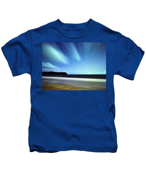 Linear Clouds Over Mayaro Kids T-Shirt
