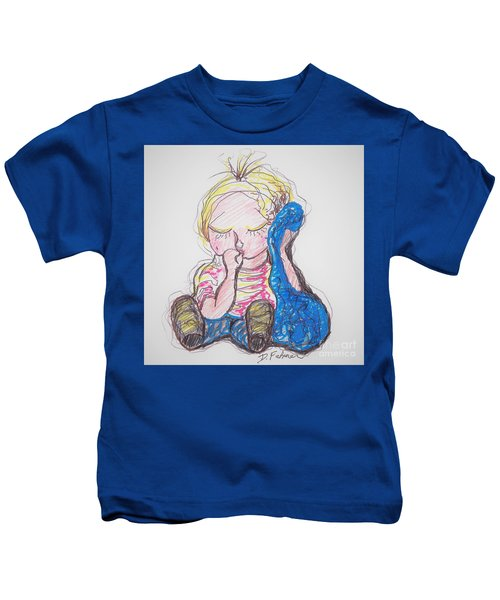 Linus And Blanky After Charles Shultz Kids T-Shirt