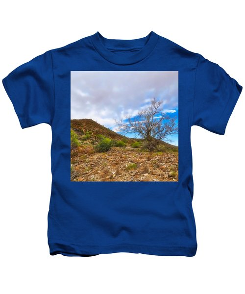 Kids T-Shirt featuring the photograph Lone Palo Verde by Judy Kennedy