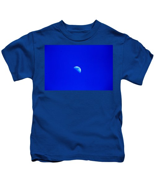 Moon In A Daytime Sky Kids T-Shirt