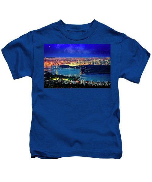 Moon Over Vancouver Kids T-Shirt