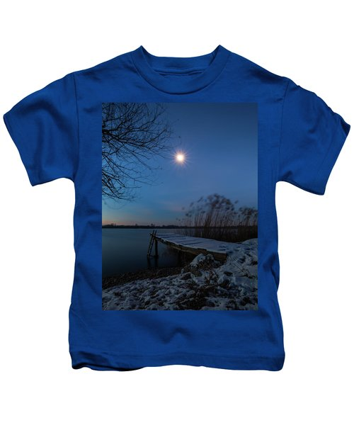 Moonlight Over The Lake Kids T-Shirt