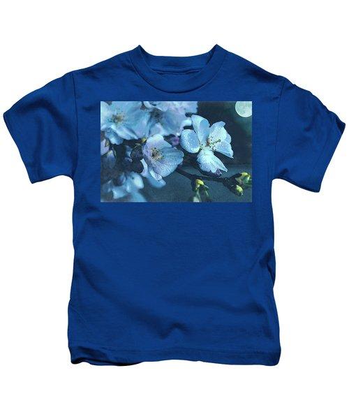 Moonlit Night In The Blooming Garden Kids T-Shirt