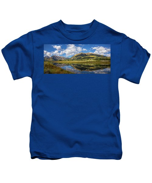 Mt. Elbert Autumn Reflection Kids T-Shirt