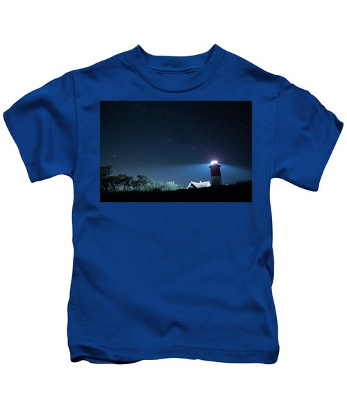 Nauset Light Under The Stars Kids T-Shirt