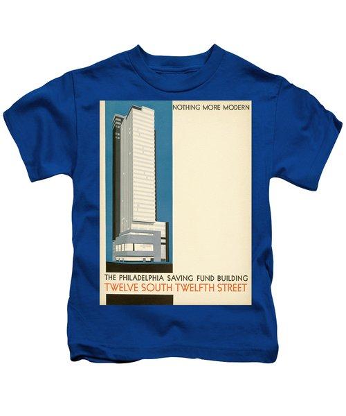 Nothing More Modern The Philadelphia Savings Fund Society Building, 1932 Kids T-Shirt