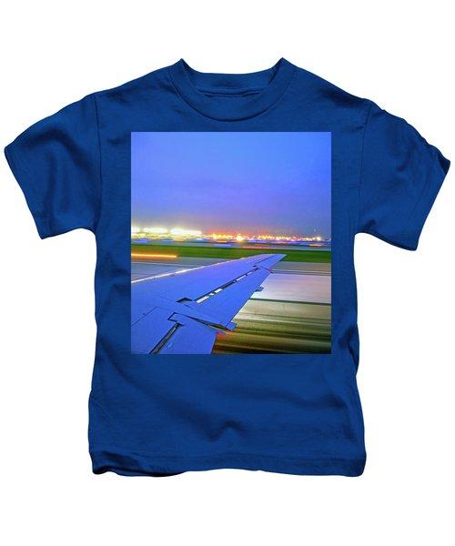 O'hare Night Takeoff Kids T-Shirt