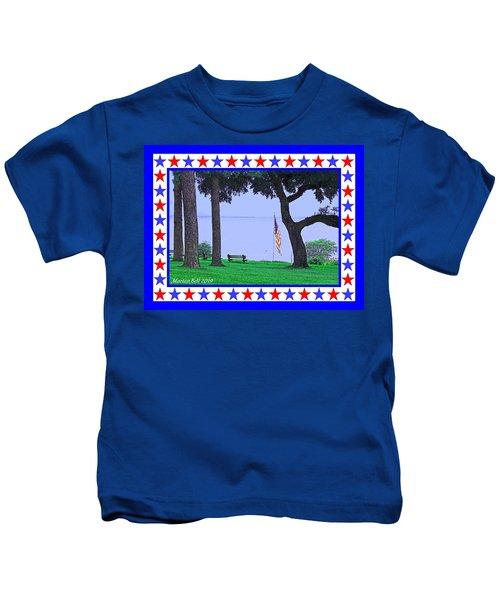 Patriotic Scene From Fairhope Alabama Kids T-Shirt