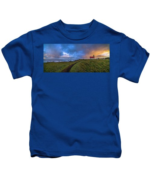 Point Cabrillo Light Station Panorama Kids T-Shirt