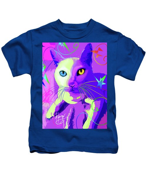 pOp Cat Cotton Kids T-Shirt