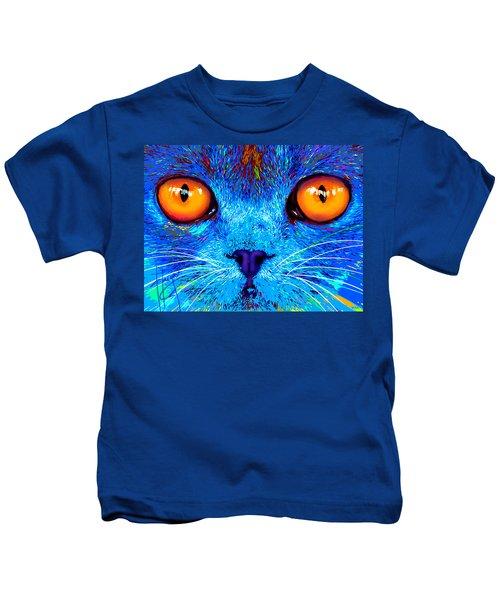 pOpCat Boe - Big Orange Eyes Kids T-Shirt