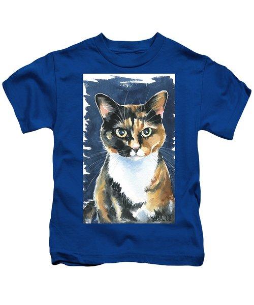 Poppy Calico Cat Painting Kids T-Shirt