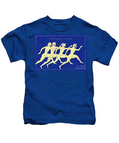 Race, Illustration From History Of Greece By Victor Duruy, 1890 Kids T-Shirt