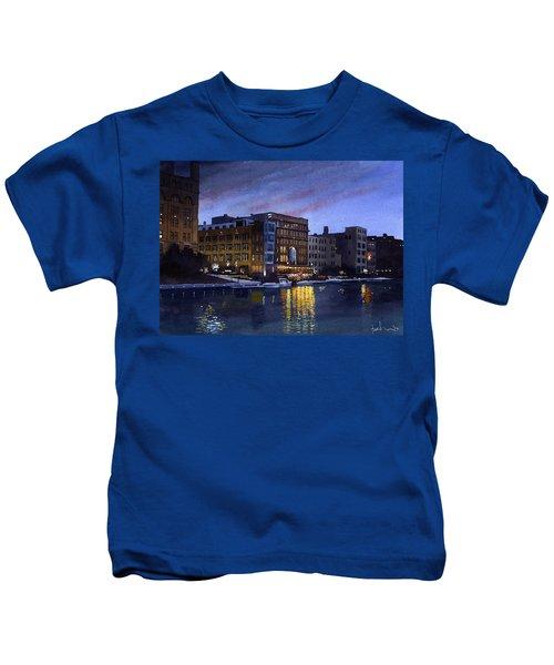 Riverwalk Nocturne Kids T-Shirt