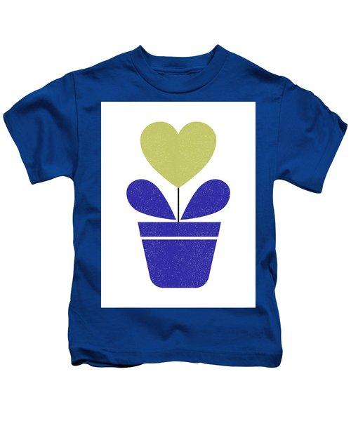 Scandinavian Heart Flower II Kids T-Shirt
