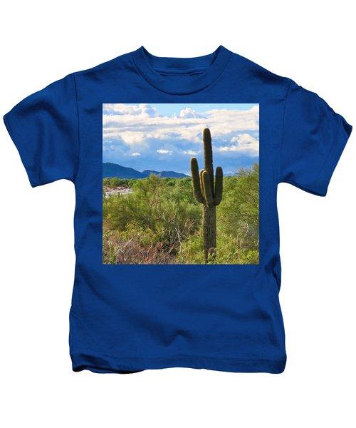 Sonoran Desert Landscape Post-monsoon Kids T-Shirt