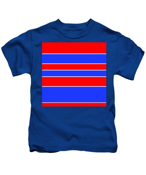 Stacked - Red, White And Blue Kids T-Shirt