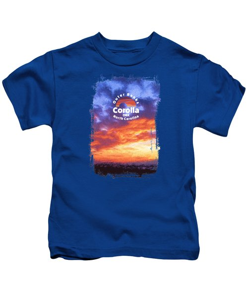 Sunset In Carolina Kids T-Shirt