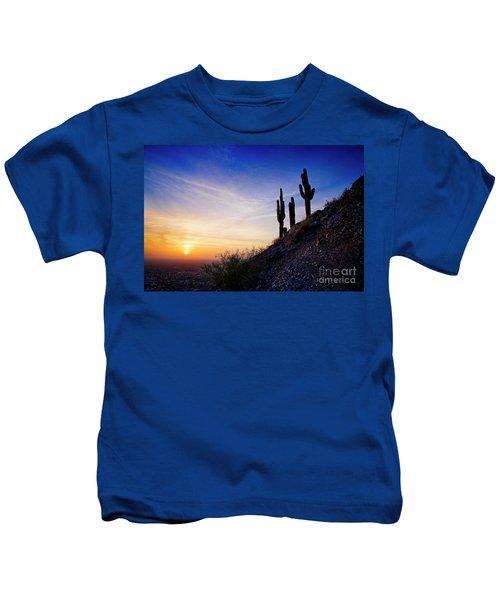 Sunset In The Desert Kids T-Shirt