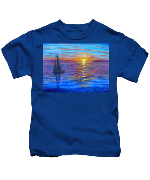 Sunset Sail Kids T-Shirt