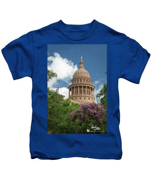 Texas Capital Building Kids T-Shirt