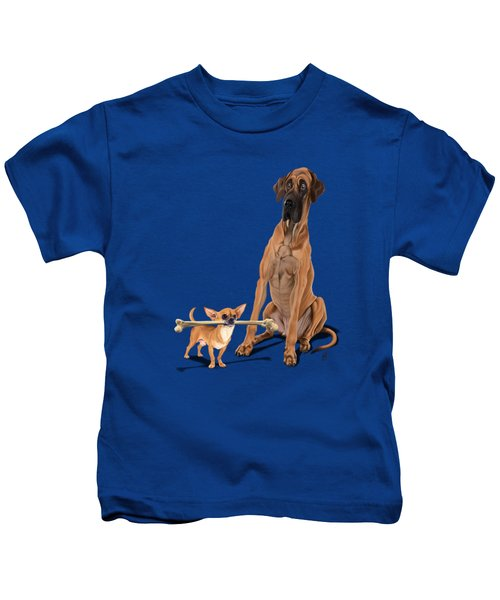 The Long And The Short And The Tall Colour Kids T-Shirt